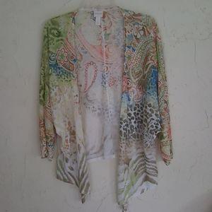Chico's Women's Open Cardigan Sweater 1 (8/10)